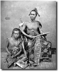 Raja of Buleleng and his secretary circa 1875. Image:  Tropenmuseum of the Royal Tropical Institute